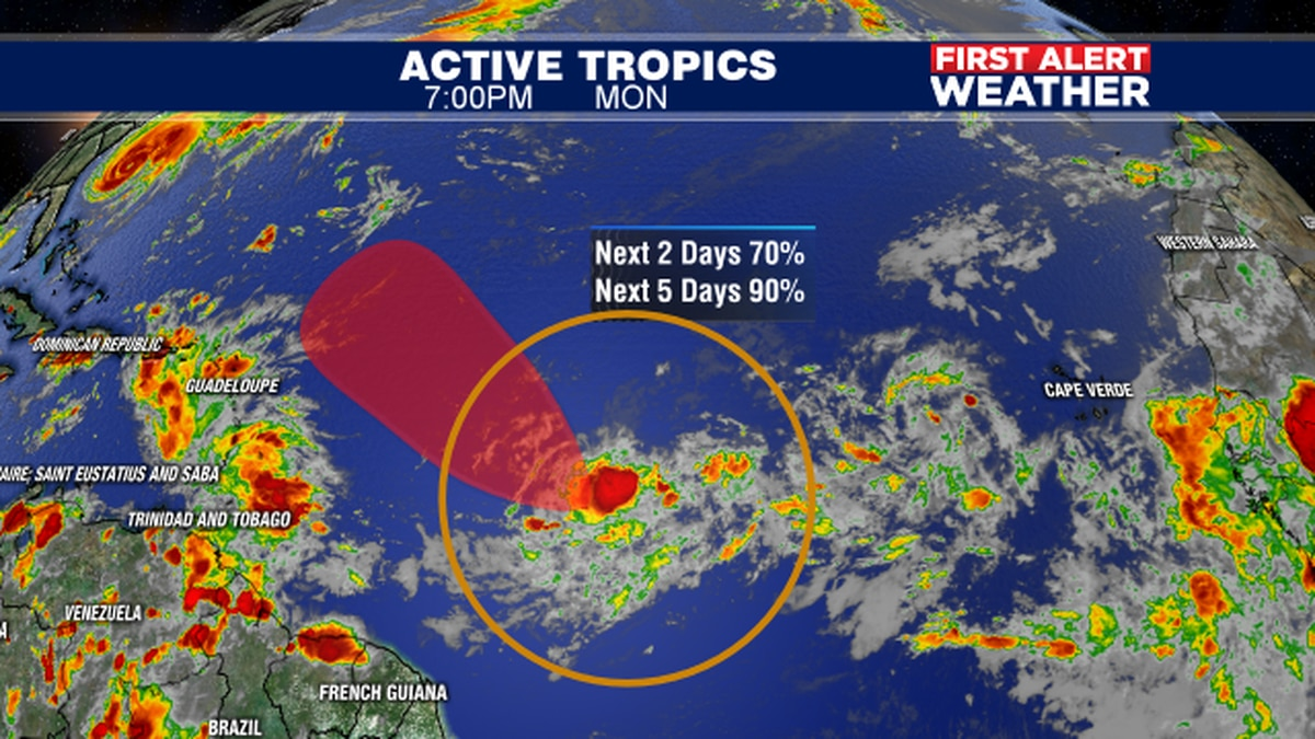 Hurricane Humberto draws down some dry air into the Suncoast