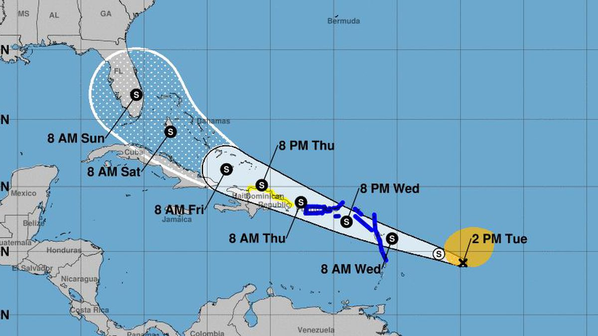 Storm pummels Caribbean with heavy wind, rain en route to US