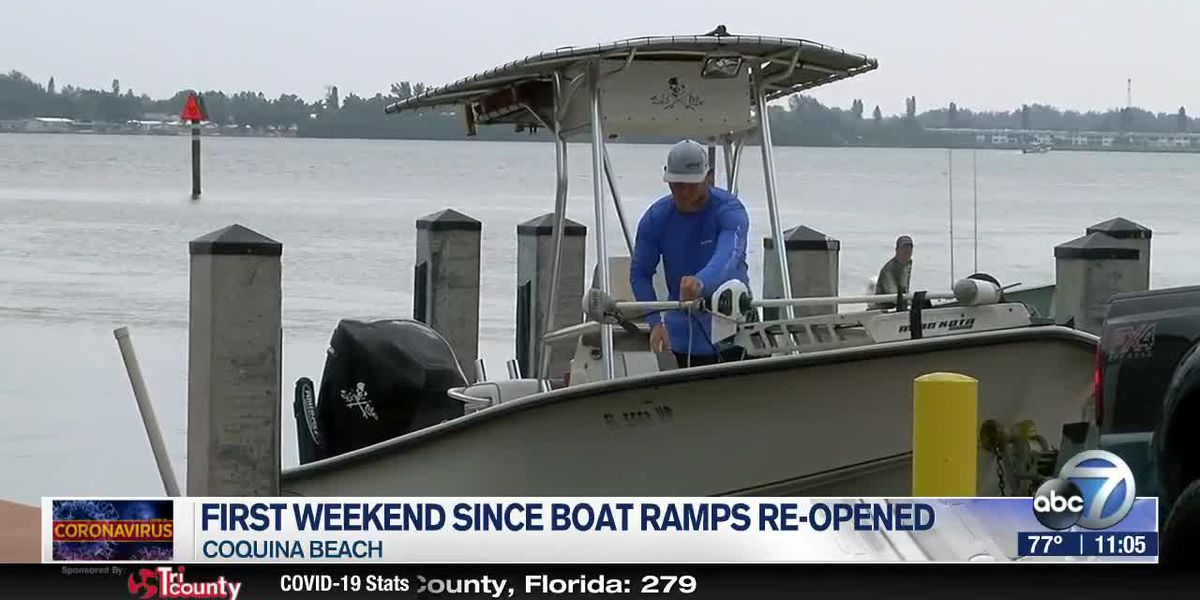 Boaters enjoy first weekend out on the water since boat ramps opened in Manatee County