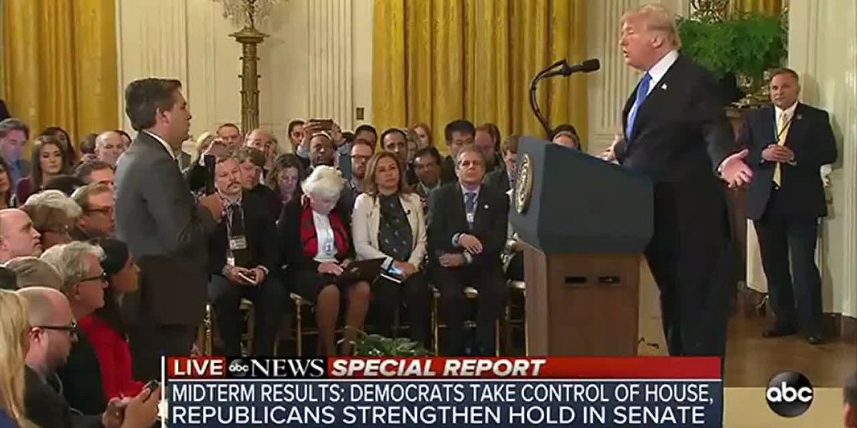 VIDEO: Trump has combative argument CNN's Jim Acosta during Q&A session