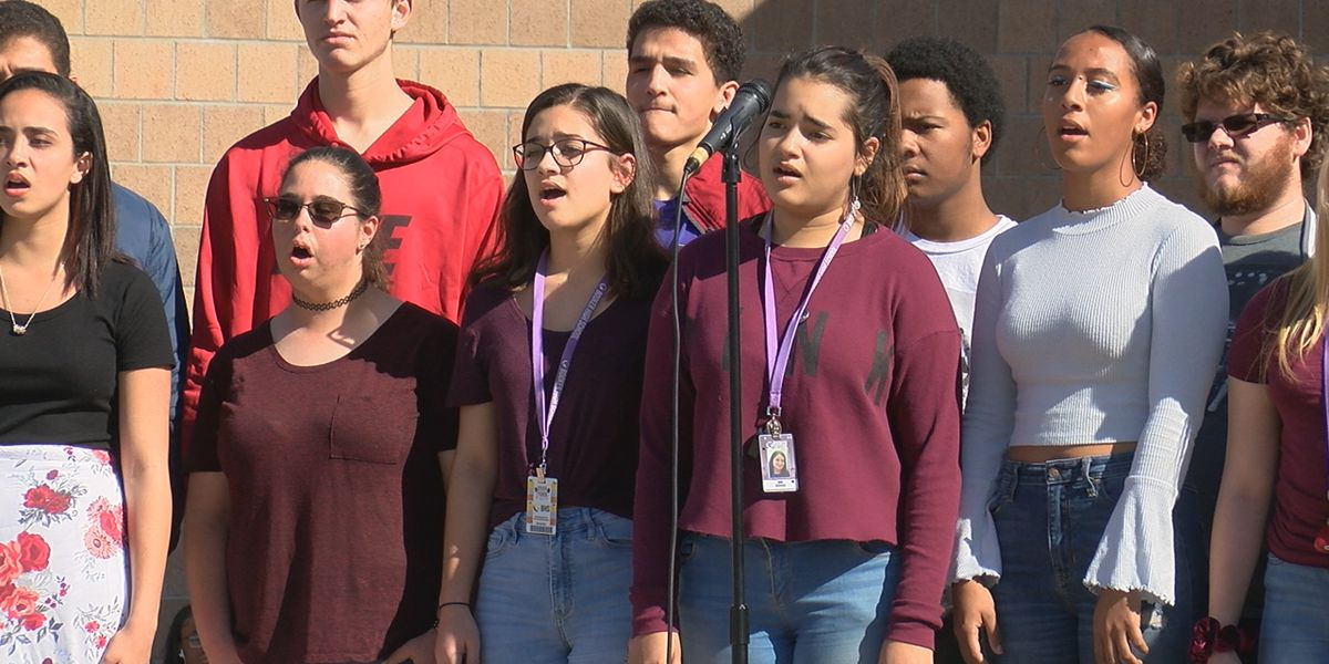 Booker High School holds remembrance to remember the lives lost in Parkland one year later
