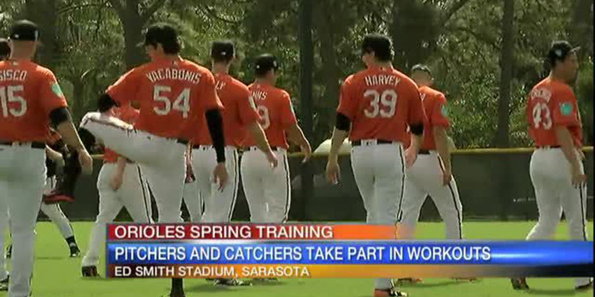 Baltimore Orioles have first spring training workout