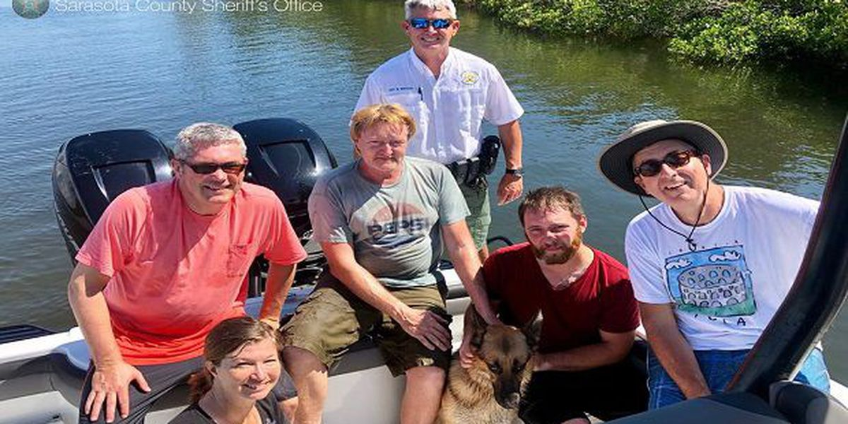 Dog rescued from mangrove island in Venice