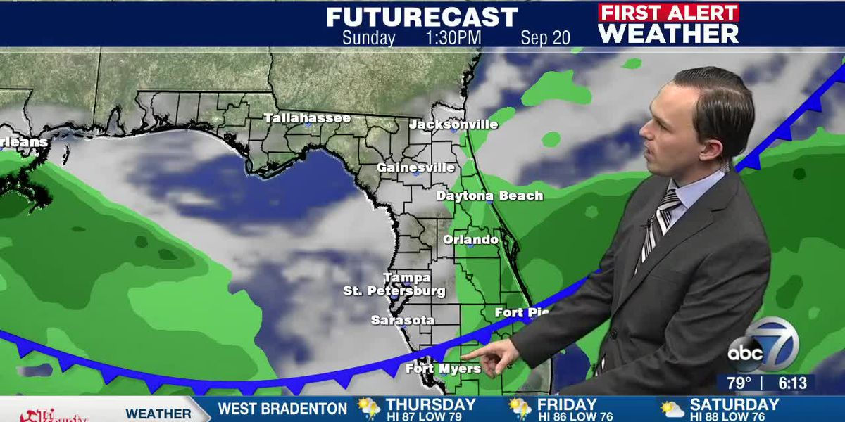 First Alert Weather: Thursday, September 17, 2020 - Numerous showers and isolated storms today, but a cold front to bring drier air by next week
