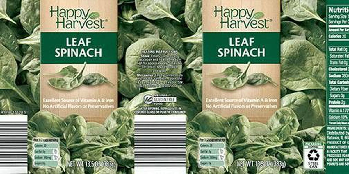 McCall Farms recalls cans of Happy Harvest Spinach