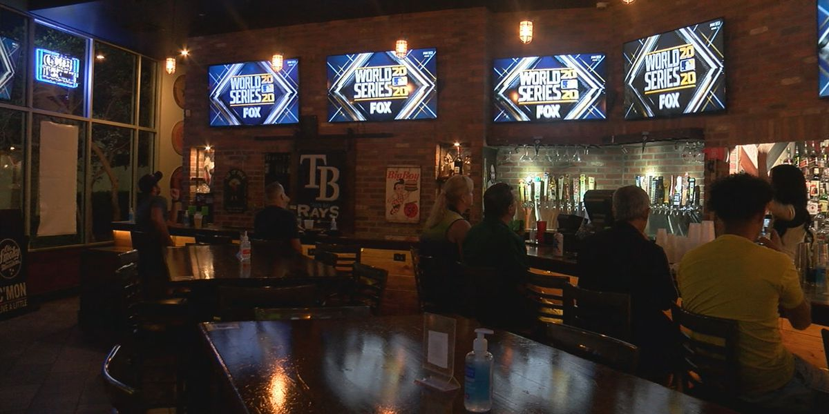 Fans on the Suncoast cheering on Tampa Bay Rays in the World Series