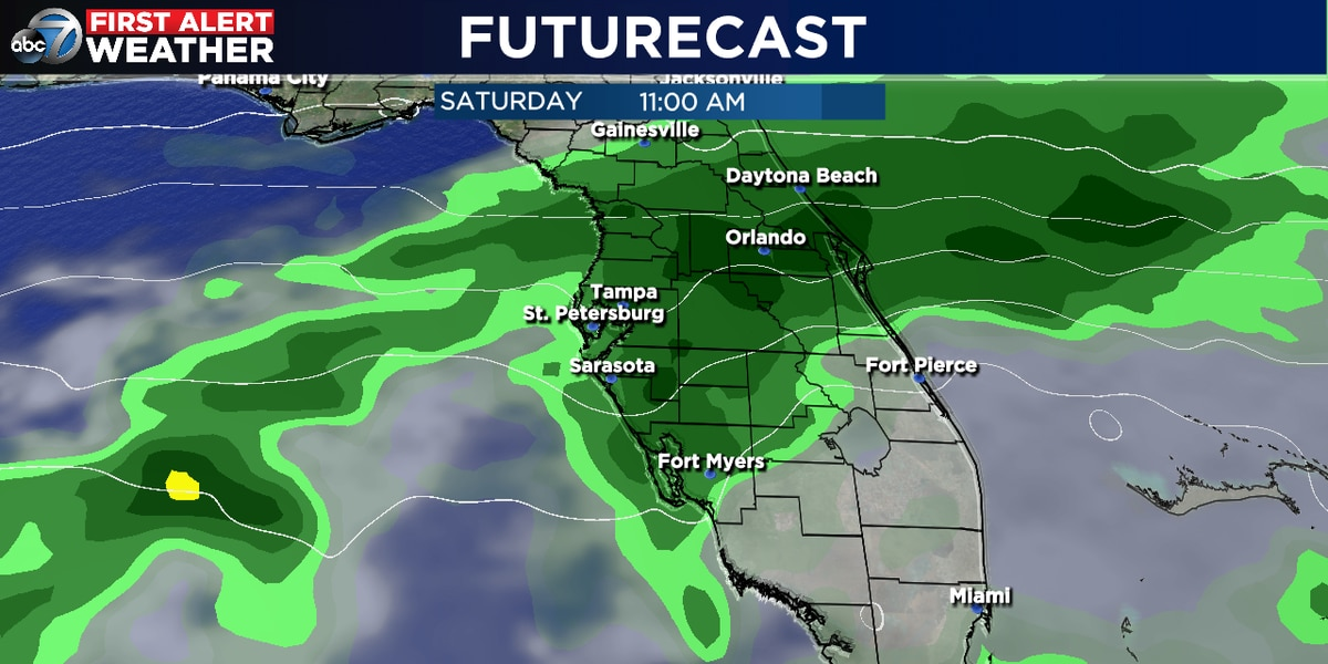 Another chance for rain this weekend