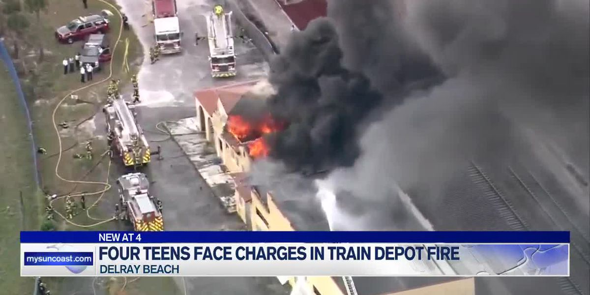 Four Teens Face Charges in Train Depot Fire