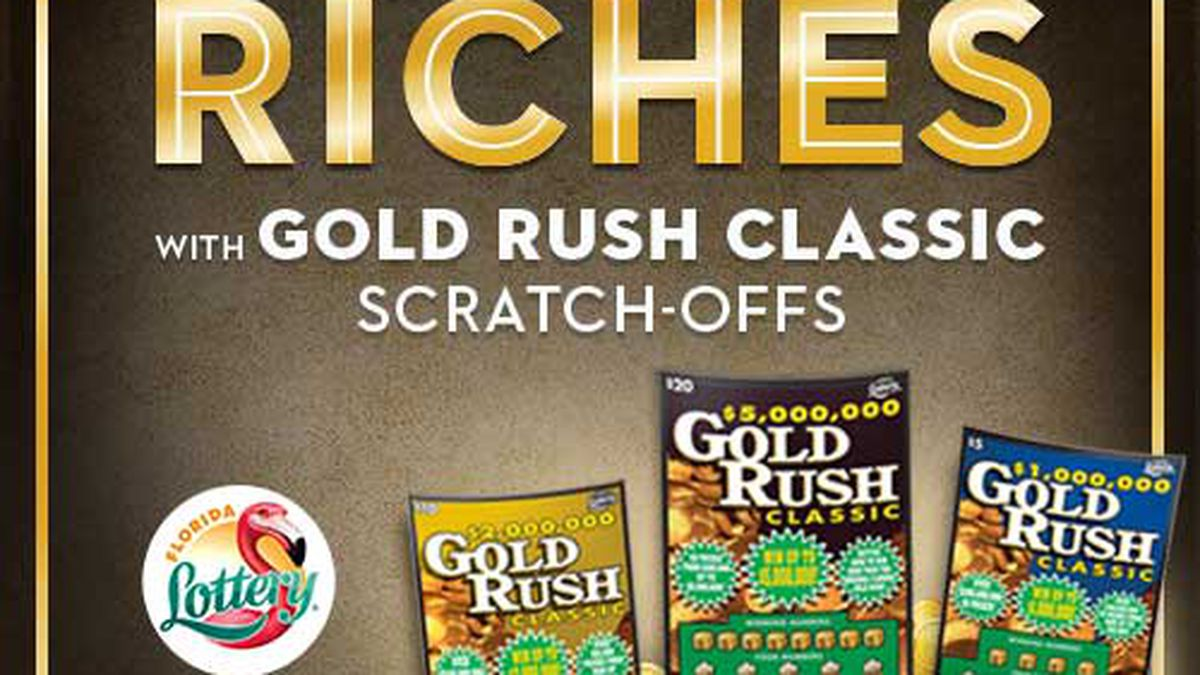 Florida Lottery Gold Rush $30 Ticket
