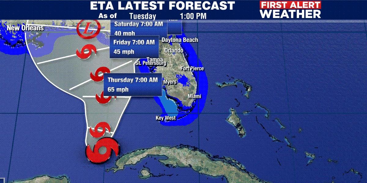 First Alert Weather: 1 PM advisory for Eta