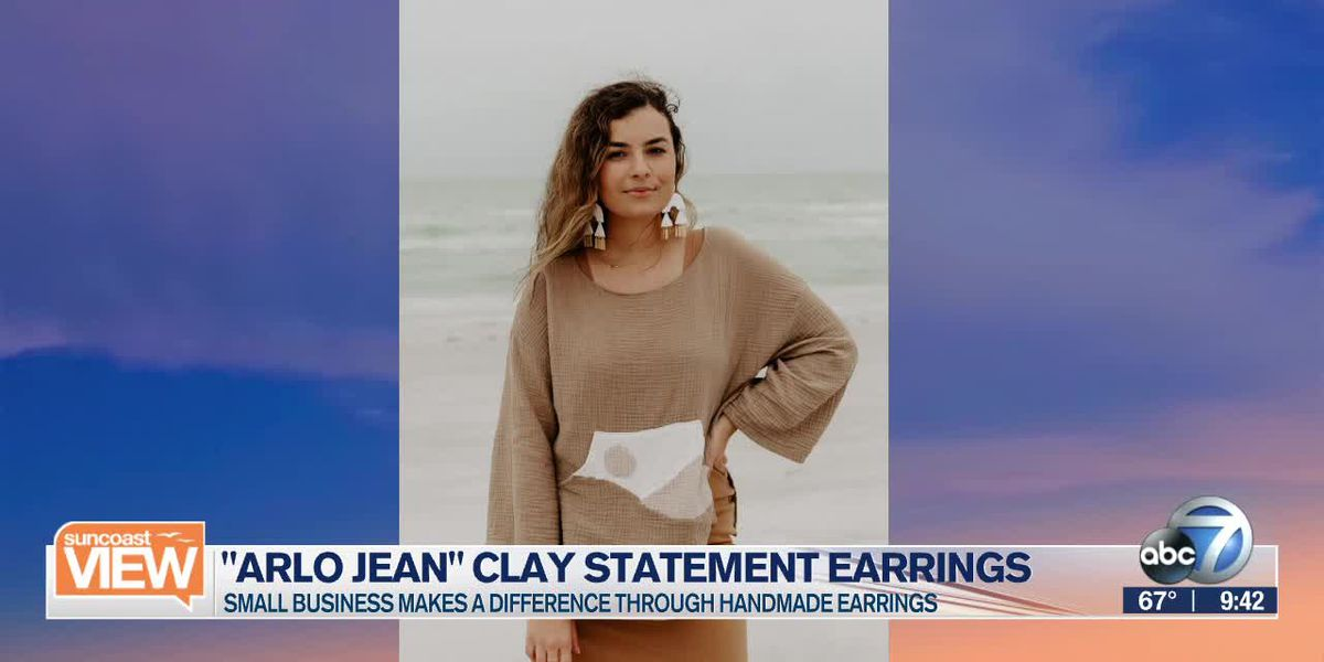 "Handmade earrings from ""Arlo Jean"" 