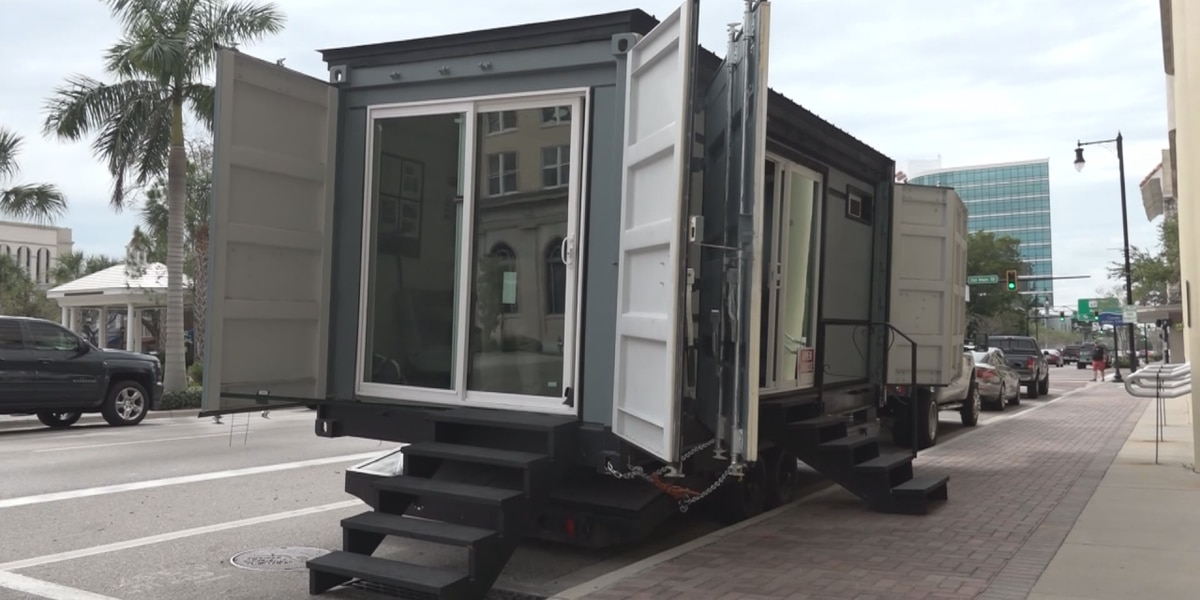 Shipping containers converted into homes for homeless students and veterans