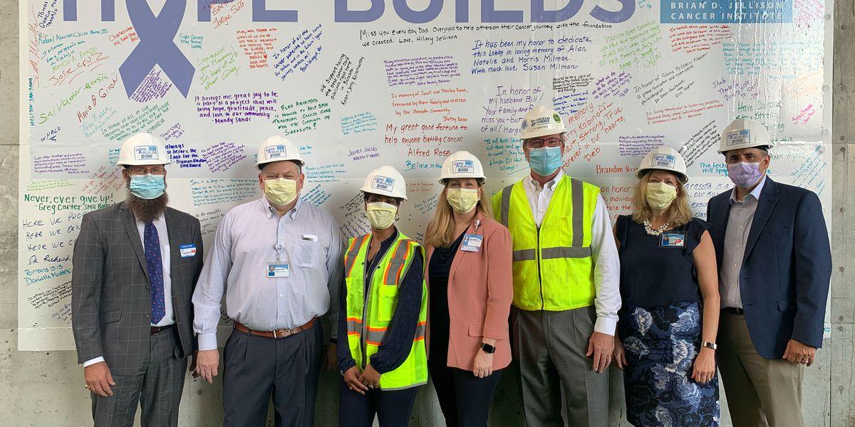 SMH Celebrates Oncology Tower Construction Milestone