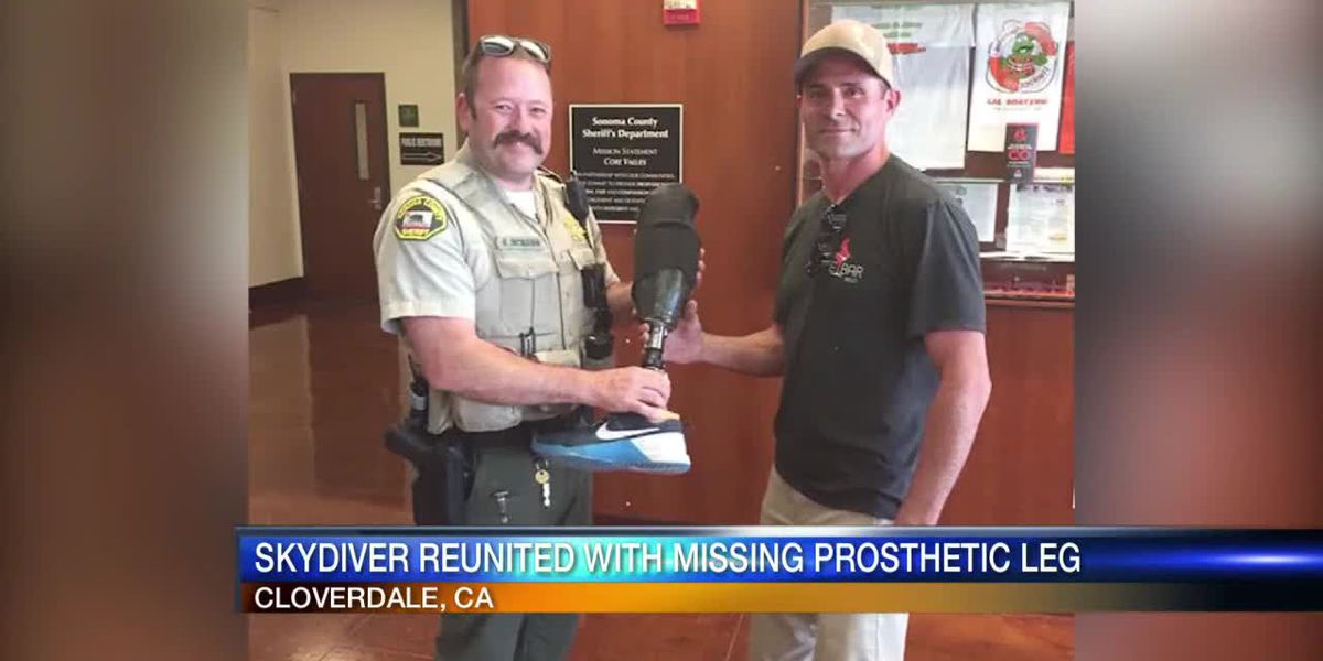 Skydiver Reunited With Missing Leg