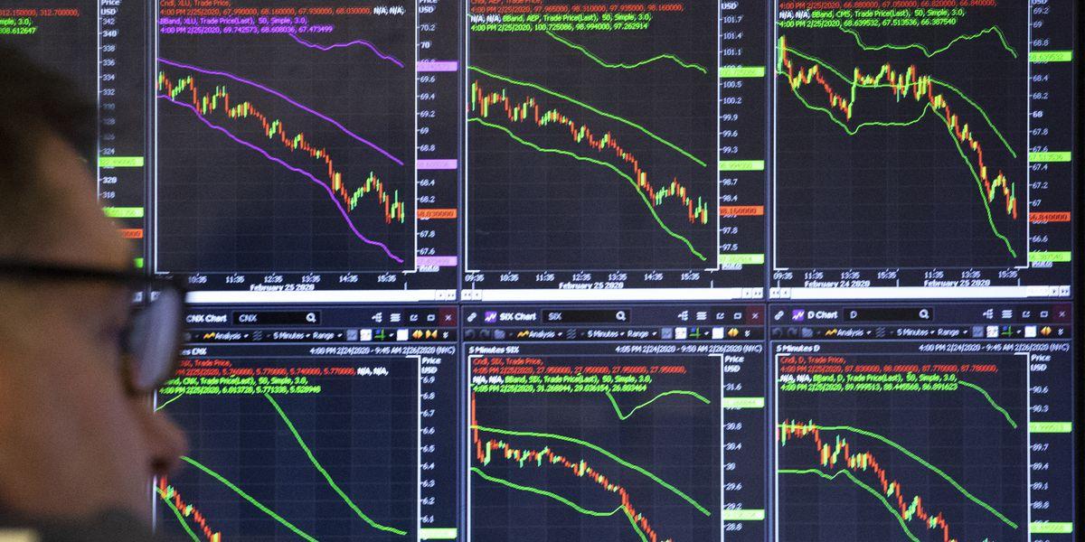 Stocks open sharply lower; Dow 10% below recent record high