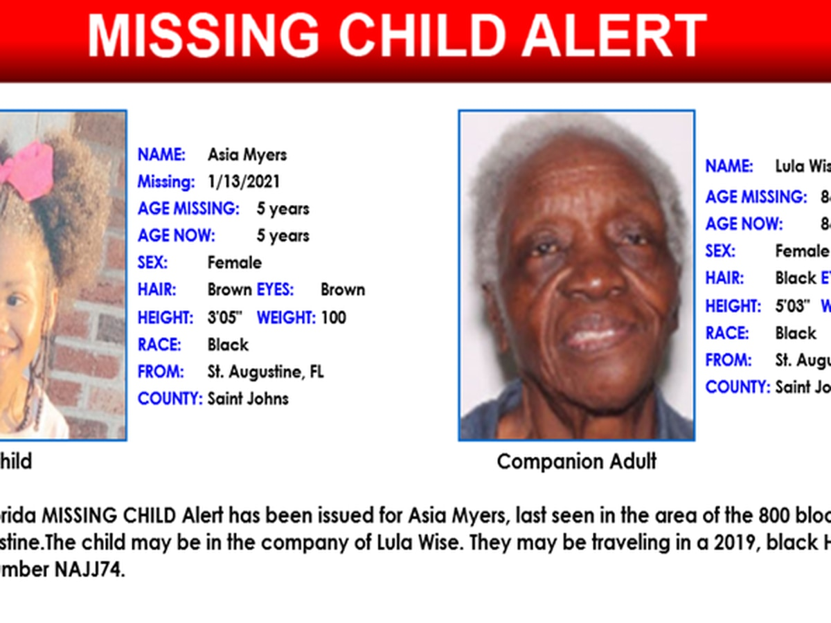 FDLE issues Missing Child Alert for 5-year-old girl