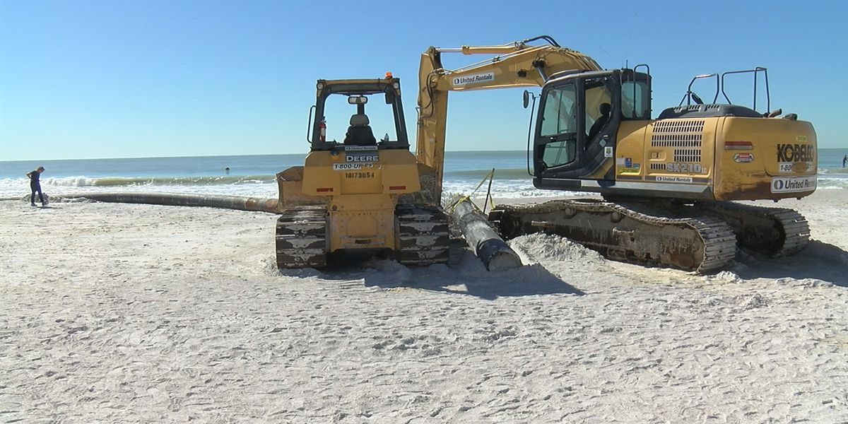 The City of Sarasota nears halfway mark for its emergency Lido Beach renourishment project