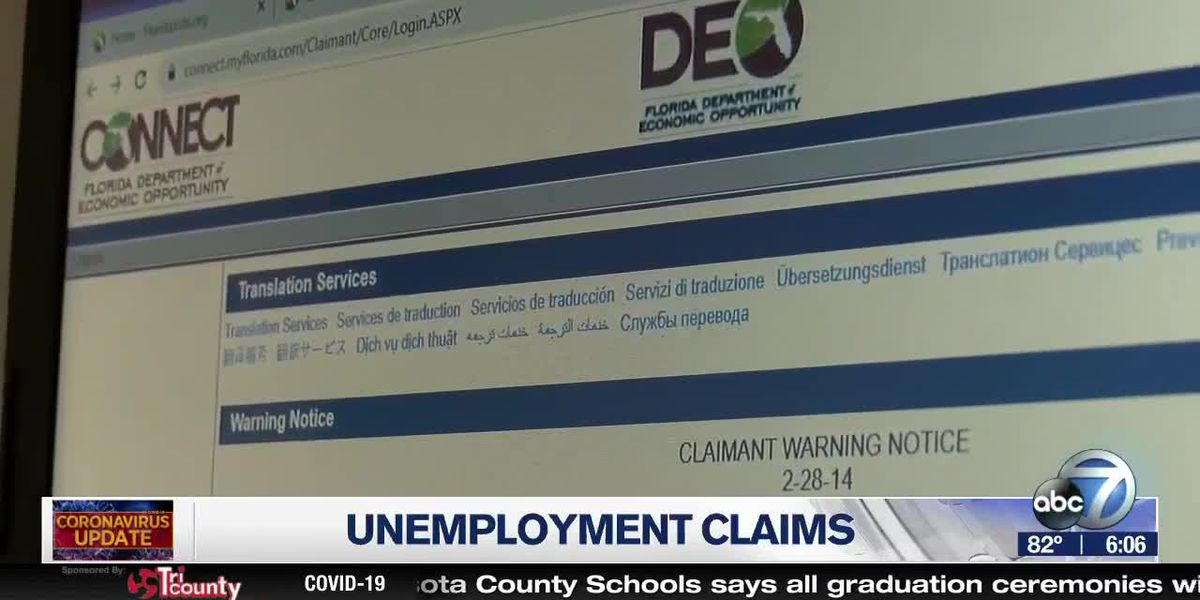 DEO asking March unemployment filers with pending cases to check accounts