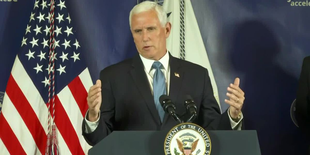 Vice President Pence makes Faith in America campaign stop in Tampa Bay Wednesday afternoon