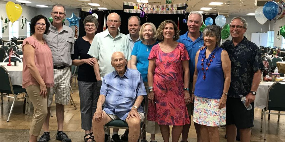 Family and friends celebrate Sarasota man turning 100 years old