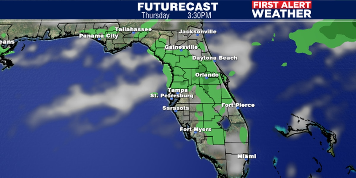 Fewer storms expected as we head into the weekend
