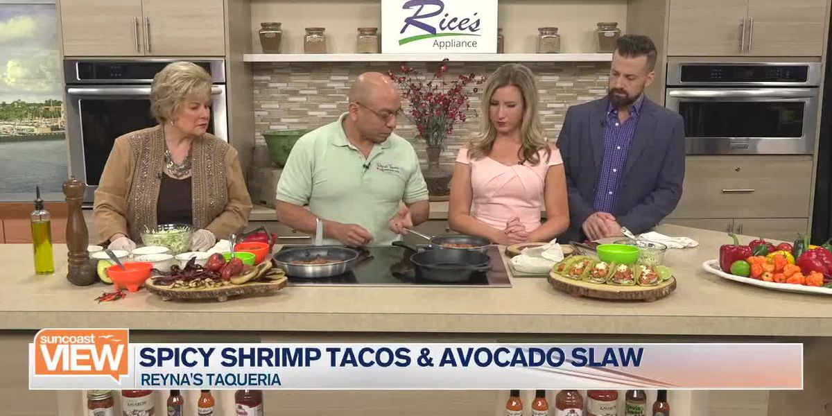 Spicy Shrimp Tacos with Reyna's Taqueria | Suncoast View