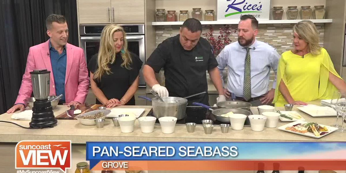 Watch Us Make Pan-Seared Seabass with Grove Restaurant at Lakewood Ranch | Suncoast View