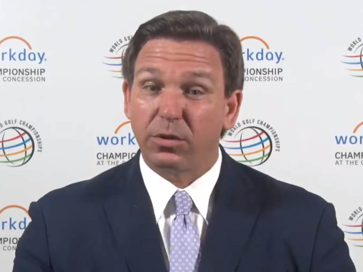 Gov. DeSantis stops by World Golf Championship in Bradenton