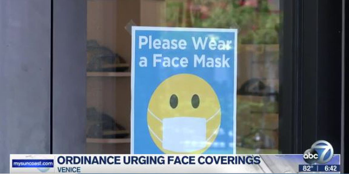 City of Venice to re-visit possibility of mask mandate in city council meeting set for Tuesday