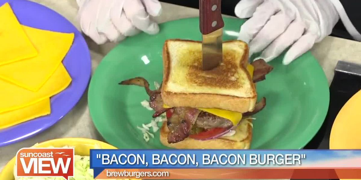 We Make a Bacon, Bacon, Bacon Burger with Brewburgers   Suncoast View