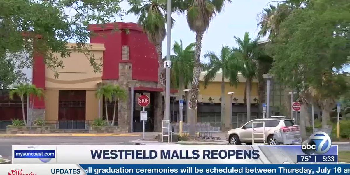Westfield Malls reopen on the Suncoast