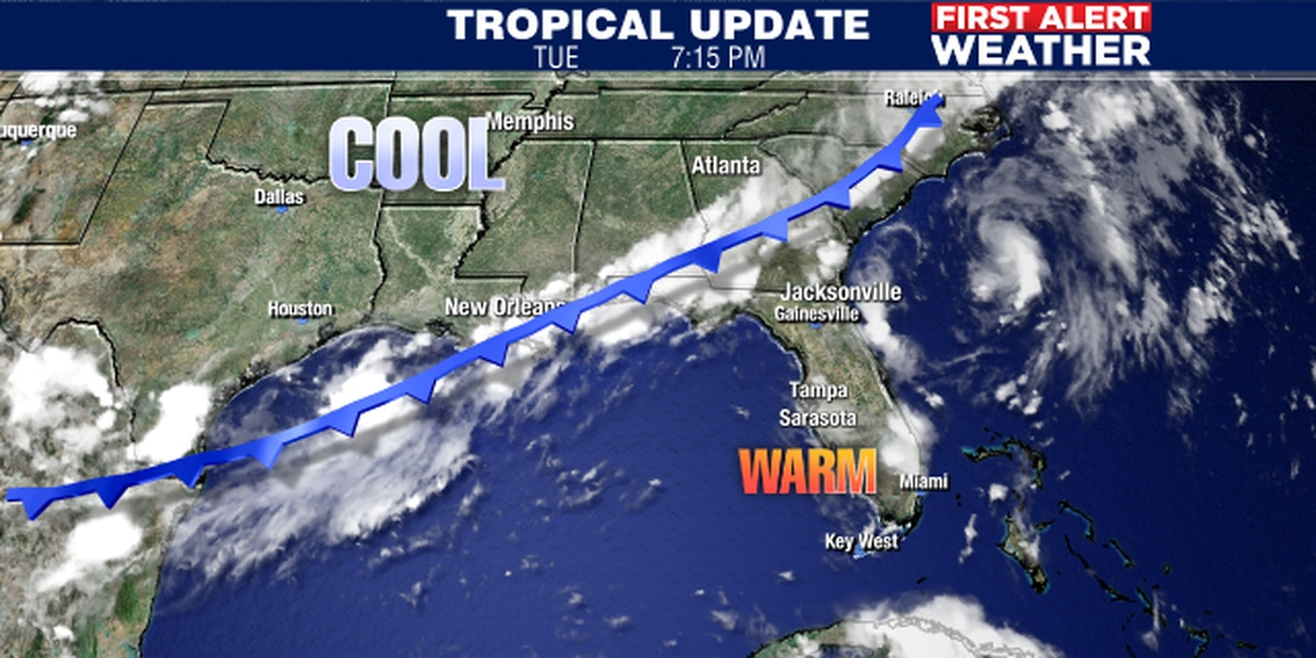 Unusual cold front brings better chances for showers and thunderstorms to Suncoast