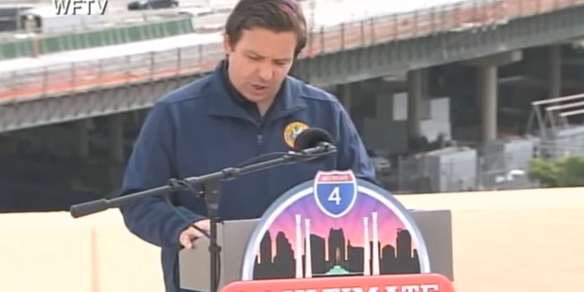 DeSantis announces opening of new ramps on I-4/408 interchange