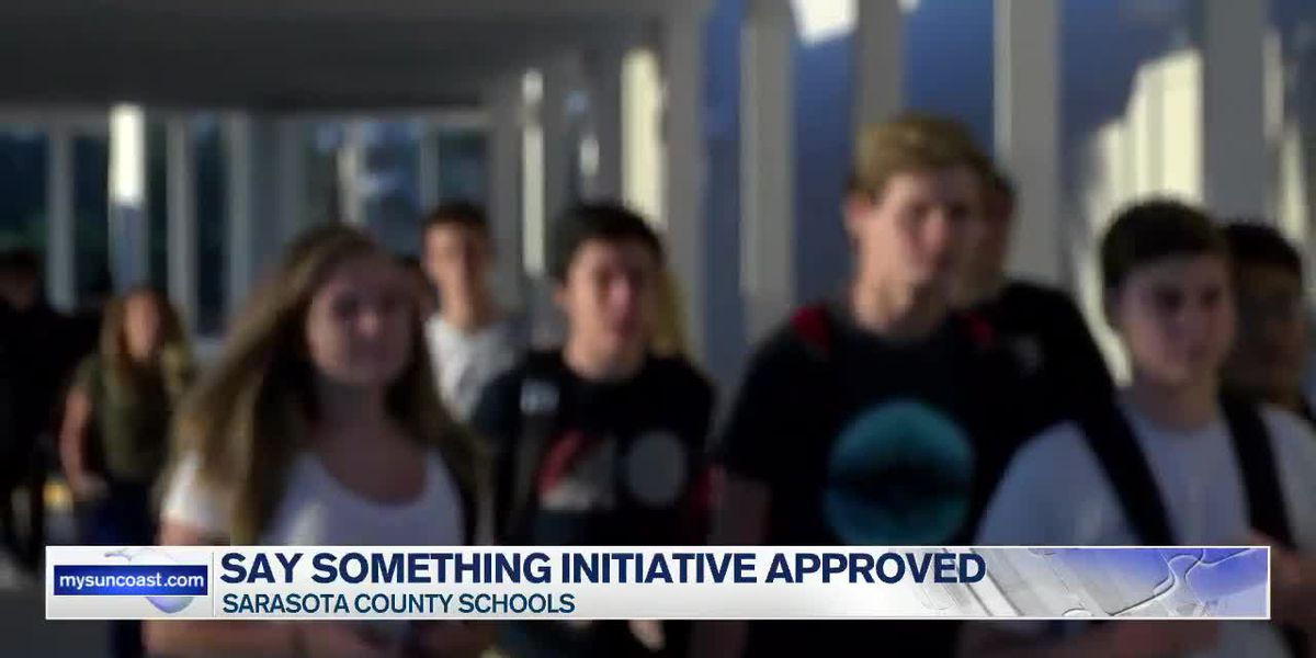 Say Something initiative approved in Sarasota County Schools