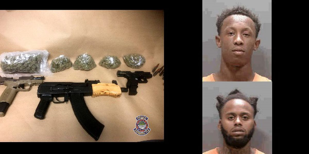 Police: Two Sarasota men face felonies after traffic stop leads to guns and more than 440 grams of marijuana