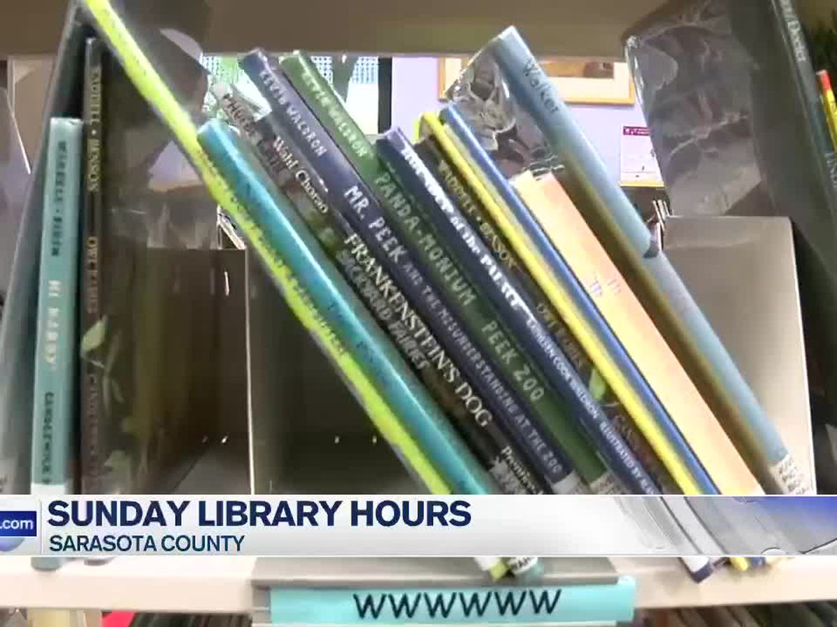 Sunday hours returning to two libraries in Sarasota County