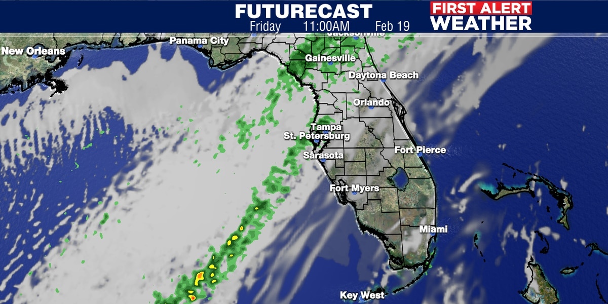 Showers and storms to move through on Friday