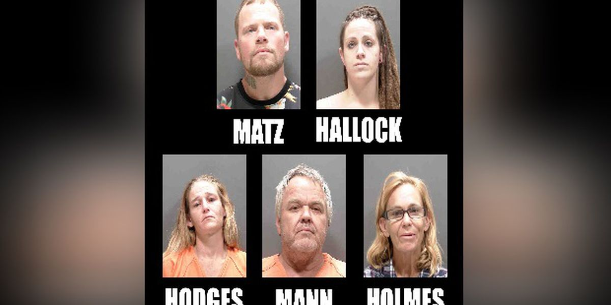 Five people arrested in connection with selling Methamphetamine in Sarasota