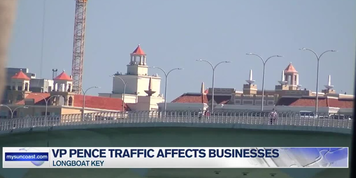 VP Mike Pence came to the Suncoast; caused traffic closures that affect some local businesses