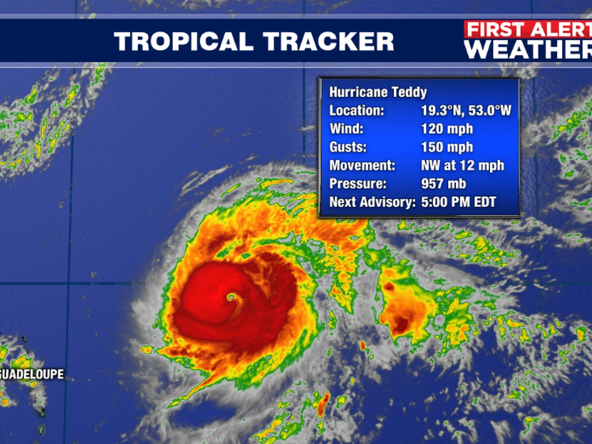 Teddy strengthens into a major hurricane and is expected to impact Bermuda nearly a week after Hurricane Paulette