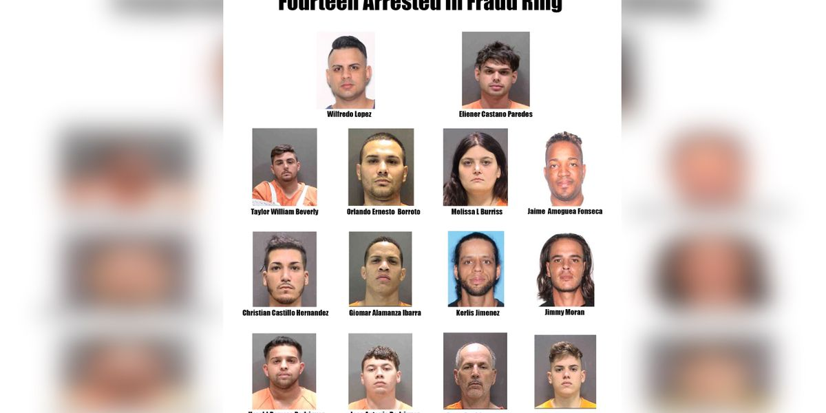 14 people arrested after deputies uncover alleged counterfeit check ring