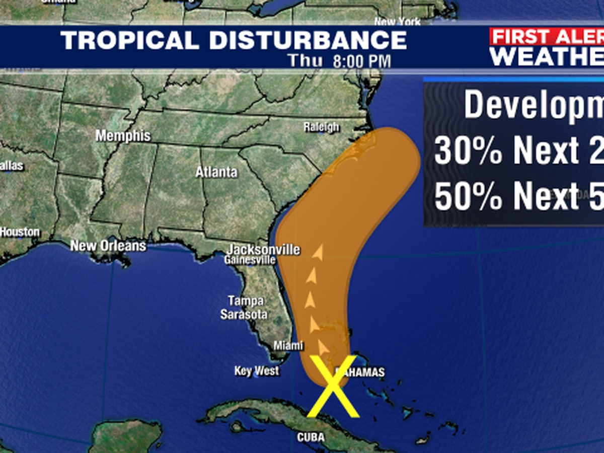 Tropical system off of SE Florida has a good chance of becoming next storm