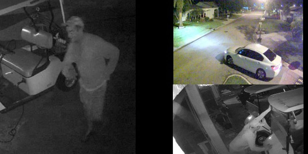 Suspects on the loose after stealing outside equipment in Manatee County neighborhood