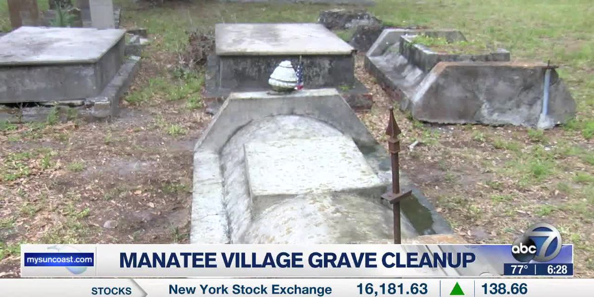 Manatee Village grave cleanup