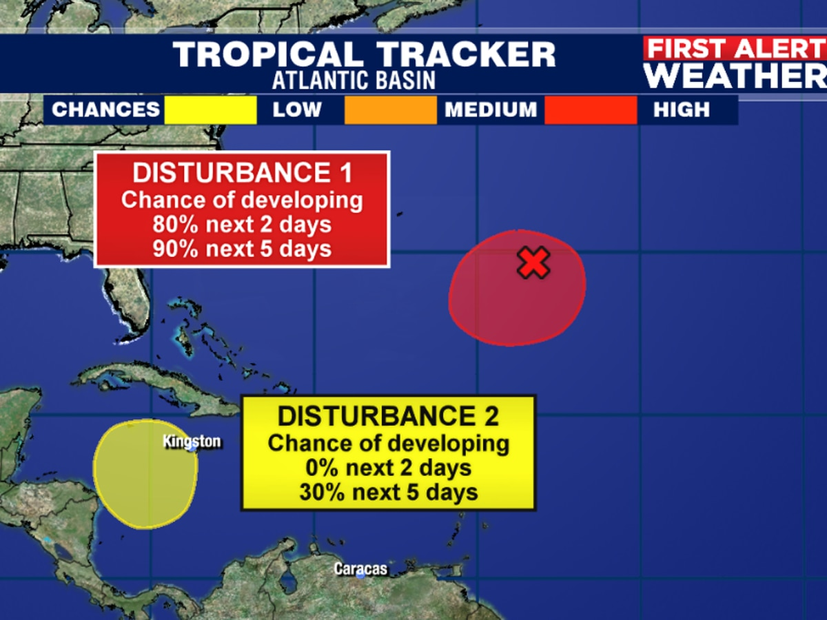 A subtropical depression or storm likely to form in the central Atlantic within the next 48-hours