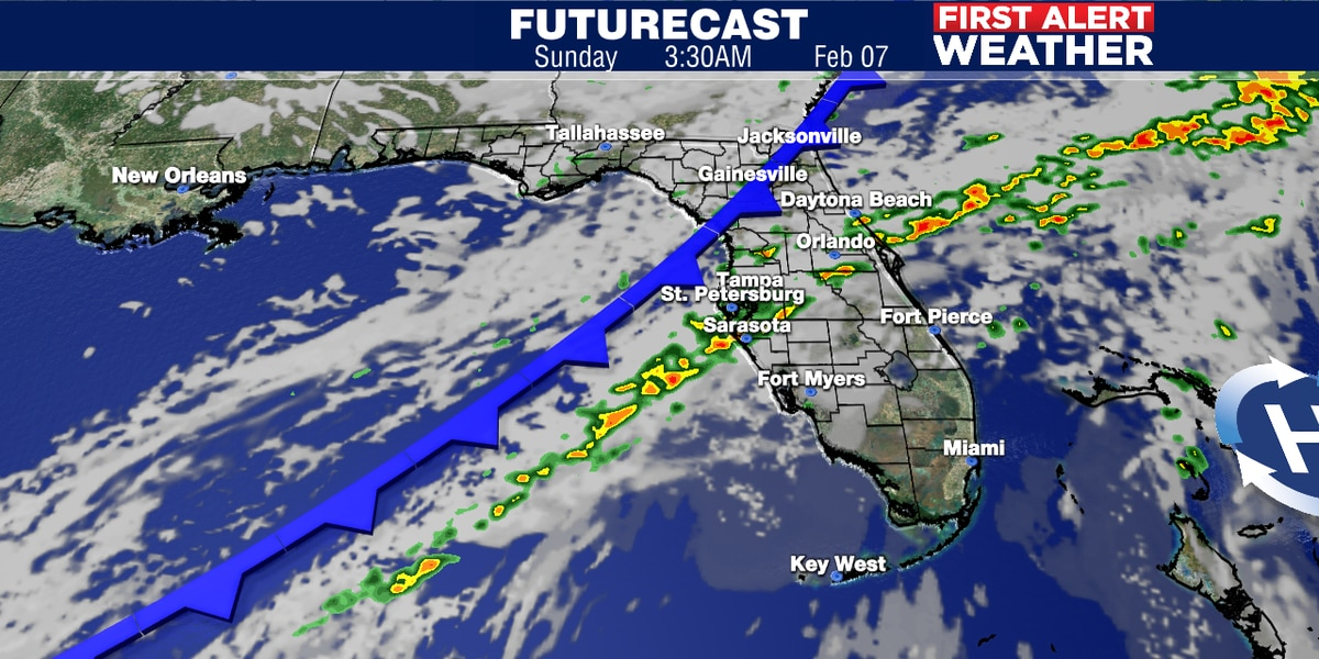 Warmer weekend ahead with some storms likely