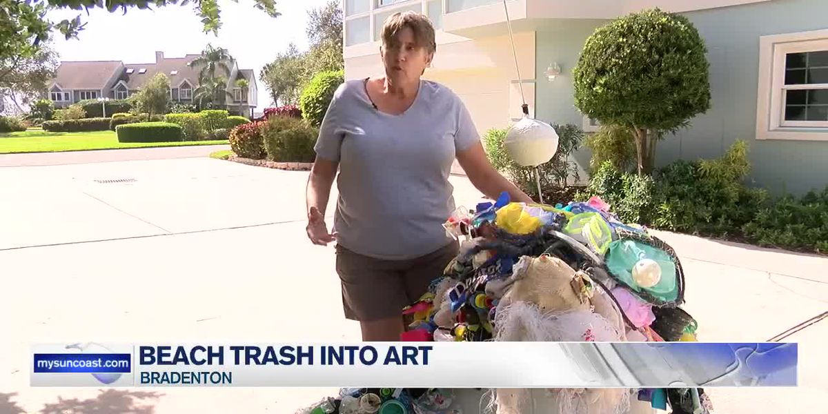 A Bradenton woman is taking trash and creating masterpieces
