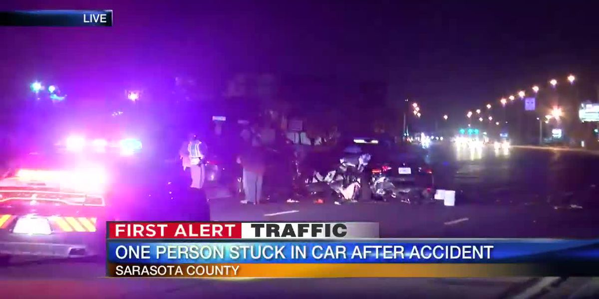 FIRST ALERT TRAFFIC: Three-car accident leaves one person trapped