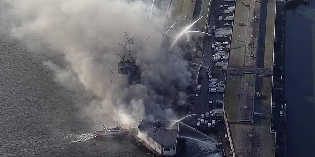 Fire destroys warehouse on San Francisco's Fisherman's Wharf