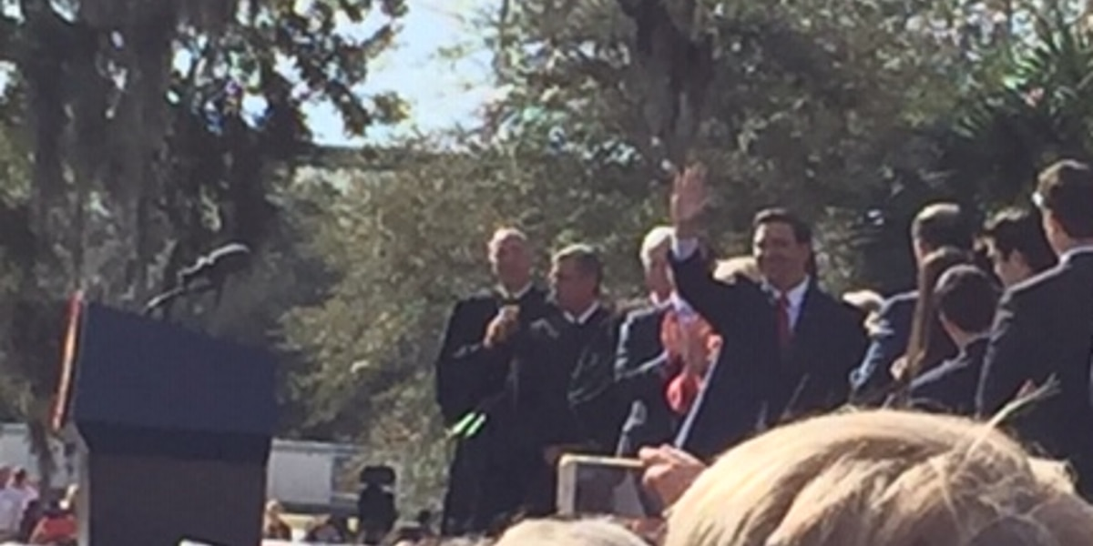 Republican DeSantis sworn in as Florida's new governor